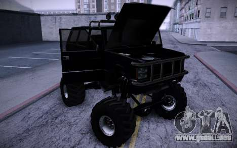 Huntley Monster v3.0 para GTA San Andreas vista hacia atrás