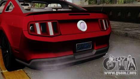 Ford Mustang GT 2010 para la visión correcta GTA San Andreas
