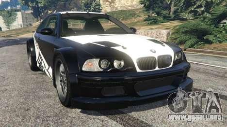 BMW M3 GTR E46 white on black para GTA 5