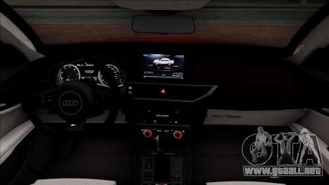 Audi RS7 2014 para visión interna GTA San Andreas