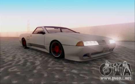 Elegy Pickup By Next para GTA San Andreas vista hacia atrás