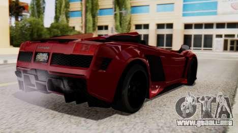 Lamborghini Gallardo J Style para GTA San Andreas left