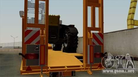 Trailer Fliegl Cargo para GTA San Andreas vista hacia atrás