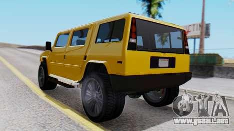 GTA 5 Patriot para GTA San Andreas left