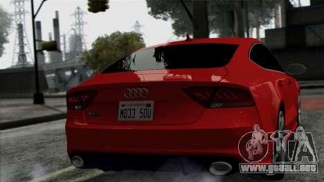 Audi RS7 2014 para la visión correcta GTA San Andreas