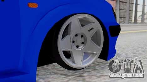 Peugeot 106 para GTA San Andreas vista posterior izquierda