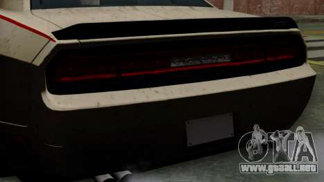 Dodge Challenger GT S para la visión correcta GTA San Andreas