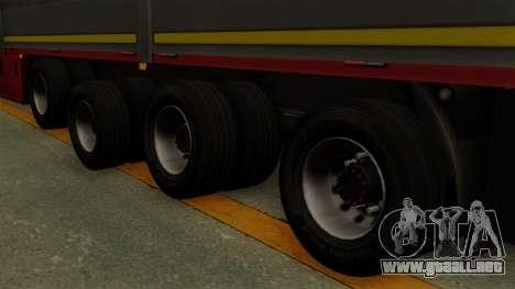 Flatbed3 Red para GTA San Andreas vista posterior izquierda