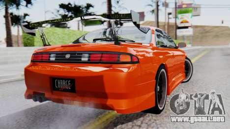 Nissan Silvia S14 (240SX) Fast and Furious para GTA San Andreas left
