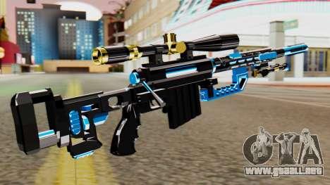 Fulmicotone Sniper Rifle para GTA San Andreas segunda pantalla