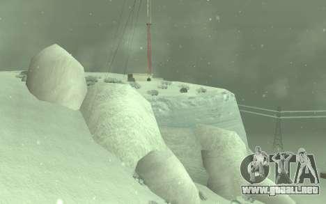 Invierno Timecyc para GTA San Andreas segunda pantalla