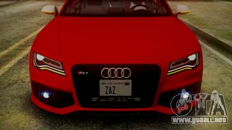 Audi RS7 2014 para vista inferior GTA San Andreas