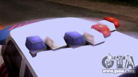 Indonesian Police Type 2 para GTA San Andreas vista hacia atrás