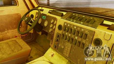 MRAP Cougar from CoD Black Ops 2 para la visión correcta GTA San Andreas
