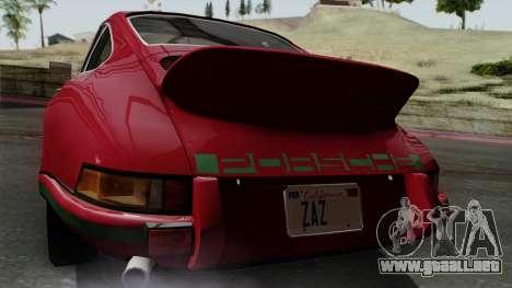 Porsche 911 Carrera RS 2.7 Sport (911) 1972 IVF para GTA San Andreas vista hacia atrás