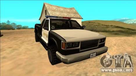 New Yosemite Police v2 para GTA San Andreas vista hacia atrás