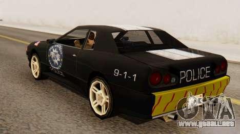 Elegy Police Edition para GTA San Andreas left