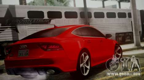 Audi RS7 2014 para GTA San Andreas left