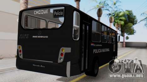 Mercedes-Benz Neobus Paraguay National Police para GTA San Andreas left