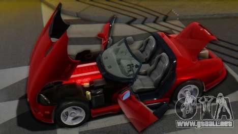 Dodge Viper RT-10 1992 para la vista superior GTA San Andreas