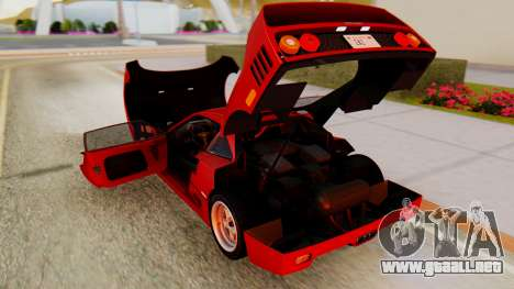 Ferrari F40 1987 with Up Lights para visión interna GTA San Andreas