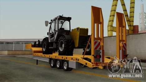 Trailer Fliegl Cargo para GTA San Andreas left
