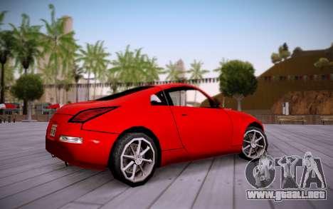 Nissan 350Z SA Style para GTA San Andreas vista posterior izquierda
