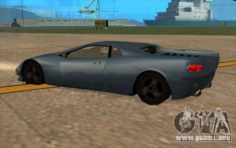 GTA 3 Infernus SA Style v2 para GTA San Andreas vista hacia atrás