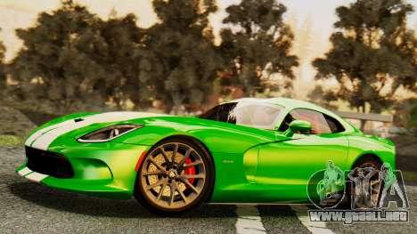 Dodge Viper SRT GTS 2013 IVF (MQ PJ) HQ Dirt para las ruedas de GTA San Andreas