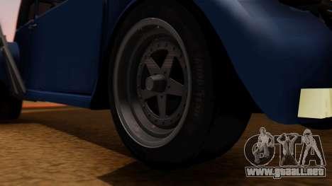 Citroen 2CV (jian) Drag Style Edition para GTA San Andreas vista posterior izquierda