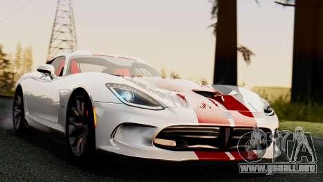 Dodge Viper SRT GTS 2013 IVF (MQ PJ) HQ Dirt para la visión correcta GTA San Andreas