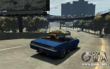 Declasse Vigero Cabrio para GTA 4 vista hacia atrás