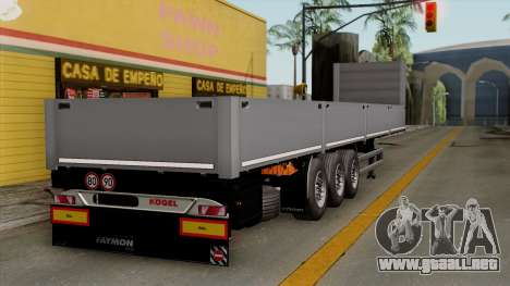 Trailer Kogel para GTA San Andreas left