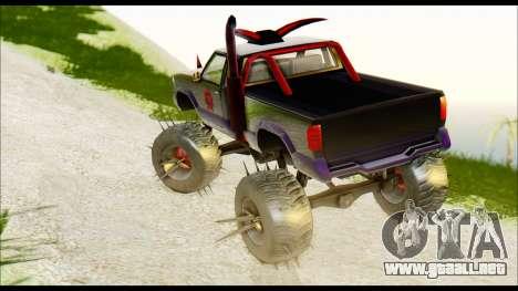 Predaceptor Monster Truck (Saints Row GOOH) para GTA San Andreas left