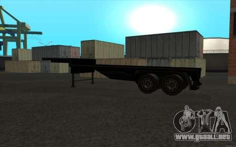Flat Trailer para la visión correcta GTA San Andreas