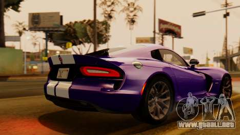 Dodge Viper SRT GTS 2013 IVF (HQ PJ) HQ Dirt para GTA San Andreas left