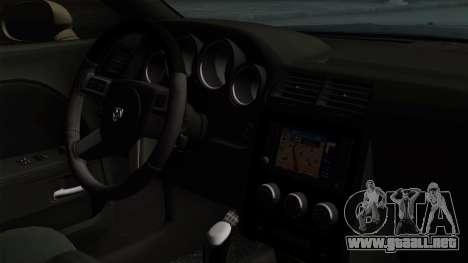 Dodge Challenger GT S para GTA San Andreas vista posterior izquierda