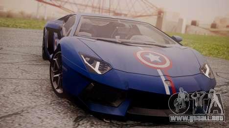 Lamborghini Aventador LP 700-4 Captain America para GTA San Andreas left