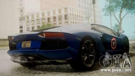 Lamborghini Aventador LP 700-4 Captain America para visión interna GTA San Andreas