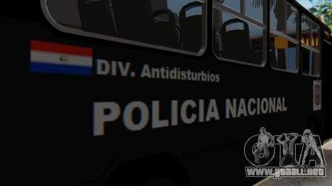 Mercedes-Benz Neobus Paraguay National Police para visión interna GTA San Andreas