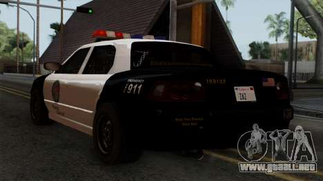 GTA 5 LS Police Car para GTA San Andreas left