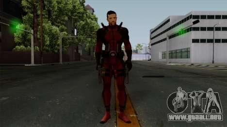 Deadpool without Mask para GTA San Andreas segunda pantalla
