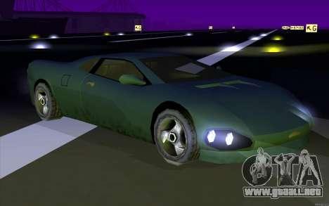 GTA 3 Infernus SA Style v2 para GTA San Andreas vista posterior izquierda