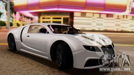 GTA 5 Adder Tire Dirt para GTA San Andreas vista posterior izquierda