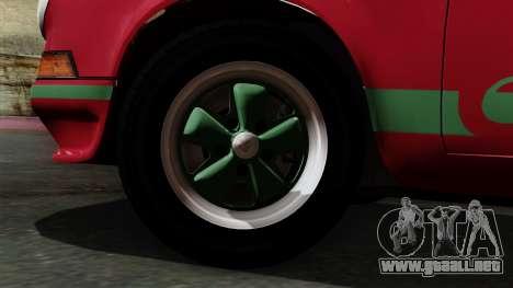 Porsche 911 Carrera RS 2.7 Sport (911) 1972 IVF para GTA San Andreas vista posterior izquierda