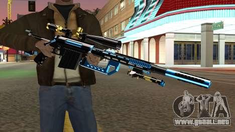 Fulmicotone Sniper Rifle para GTA San Andreas tercera pantalla