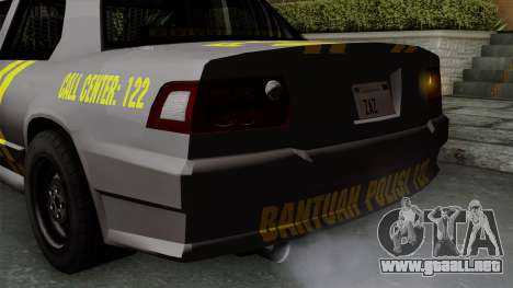 Indonesian Police Type 1 para GTA San Andreas interior