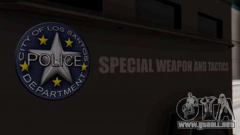 GTA 5 Enforcer S.W.A.T. para la visión correcta GTA San Andreas