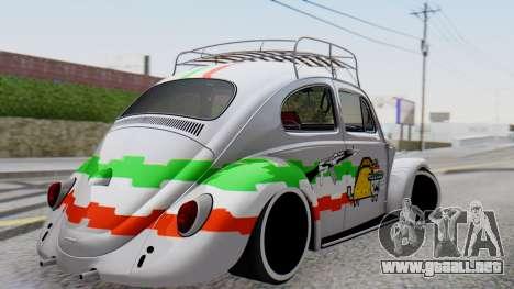 Volkswagen Beetle Vocho Nyan Cat V Mexicano para GTA San Andreas left