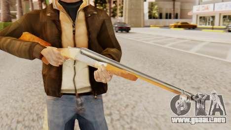 La versión completa de doble escopetas para GTA San Andreas tercera pantalla